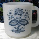 Glasbake McKee Co Blue Onion Mug