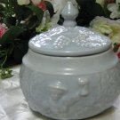 Ceramic Powder Blue Lidded Dish
