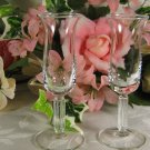 Clear Cordial Ribbed Stem Glasses