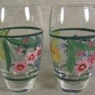 Floral Shot Glasses Handpainted
