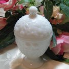 Avon Milk Glass Candy Dish Candle Holder