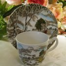 Grindley Cup Saucer Set Sunday Morning Tunstall Multi