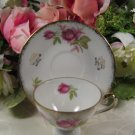 Lefton Demi Cup Saucer Set 584R Handpainted Japan