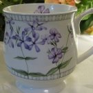 Knight Cup Mug White with Lilac Floral Motif