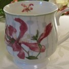 Knight Cup Mug White with Pink Floral Motif