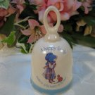 Holly Hobbie Blue Girl Stoneware Bell