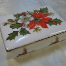 Flambro Christmas Rose Trinket Box