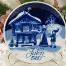 Preparing for Christmas 1980 Plate Porsgrund Norway