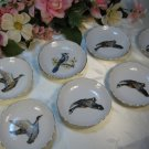 Vintage Saucers Birds Ashtrays Japan