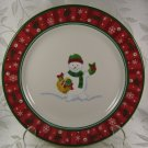 Longaberger Christmas Plate Buster Holiday Pottery