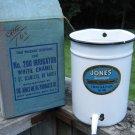 Vintage Jones Irrigator No 200 Porcelain Enamelware