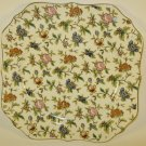 Moriyama Chintz Square Cake Plate Hand Painted Japan