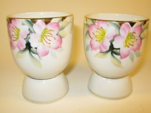 Noritake Azalea Egg Cups Red Mark Pair