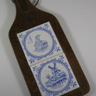 Delft Blue Tile Cutting Board Vintage