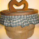 Wood Apple Basket Gingham Sewing Crafts