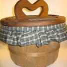Wood Apple Basket Gingham Sewing Crafts