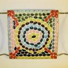 Mosaic Stone Tile Trivet Vintage
