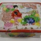 Vintage Desk Stamp Holder Japan Porcelain