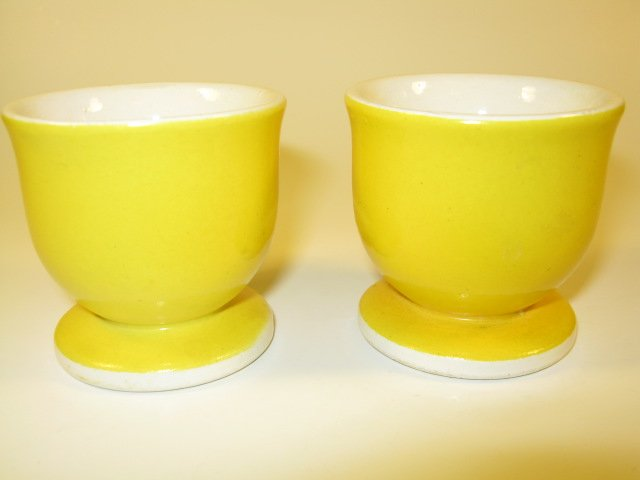 Yellow Ceramic Egg Cups
