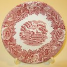 Wood & Sons Red Transferware Coaster English Scenery