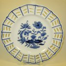 Baum Bro Blue Onion Plate Diagonal Lattice Formalities