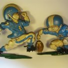 Homco Cast Aluminum Football Players