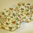 Moriyama Chintz Tidbit Dish 1920s Hand Painted Japan