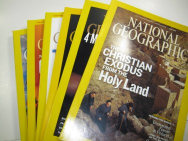 National Geographic Magazine 6 Issues
