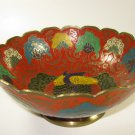 Enesco Enamel Brass Bowl Made in India