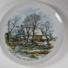 Winter in the Country Old Grist Mill Currier & Ives Plate
