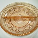Indiana Glass Windsor Pink Divided Relish Dish