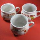 Soup Mugs Soup Recipe Set of 3