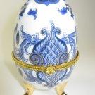 Russian Porcelain Egg Trinket Box B
