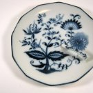 Blue Onion Nappy Dish One Handled Crossed Swords A Mark