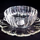 Vintage Glass Mayonnaise Condiment Dish Undertray