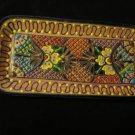 Mexican Talavera Serving Bread Tray Folk Art Pottery