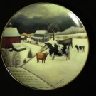 Franklin Mint Cows in Winter Collector Plate