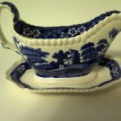 Spode TOWER BLUE Gravy Boat & Underplate