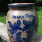 Grime Farm Salt Glaze Crock OOAK