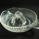 Vintage Glass Reamer Ribbed Clear