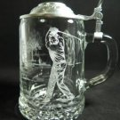 Etched Beer Stein Golf ALWE