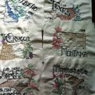 Vintage Hand Embroidered Quilt Blocks and Pattern States