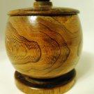 Wood Round Jewelry Trinket Box