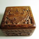 Carved Wood Jewelry Trinket Box