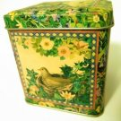 Bird in Nest Vintage Looking Tin Box Container