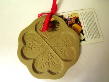 Brown Bag Cookie Art Mold Four Hearts 1994