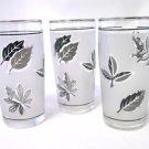 Libbey Silver Leaf Frosted Juice Glasses Set of 3
