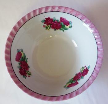 Vintage Yamatsu Bowl Roses Made in Japan