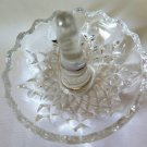Zajecar Lead Crystal Ring Dish Tray Holder Yugoslavia