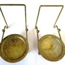 Brass Cup and Saucer Stand Holder Set of Two